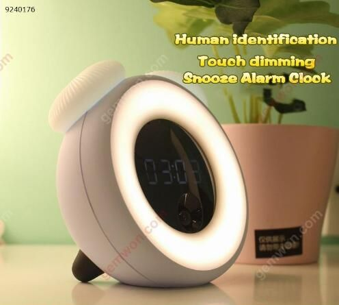 Ed intelligent inductive charging small night light, creative intellisense, multifunctional vibration, taste the alarm After you fall asleep, the state, the time will monitor your status at any time, and then automatically extinguished lights, up at night to never go to turn off the lights