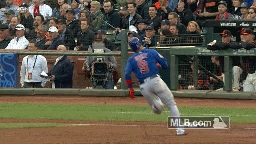 Javy Baez Finished Off His Inside The Park Homer With A Slip N Slide Dive Into Home Plate In 2020 Cubs Fan Baseball Players Slip N Slide
