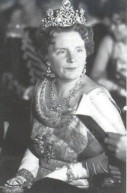 Queen Juliana wearing the stunning Stuart Diamond tiara