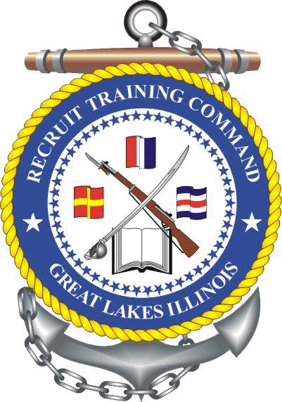 Emblem for Recruit Training Command (RTC) Great Lakes, IL...the US Navy's only boot camp for male and female recruits...