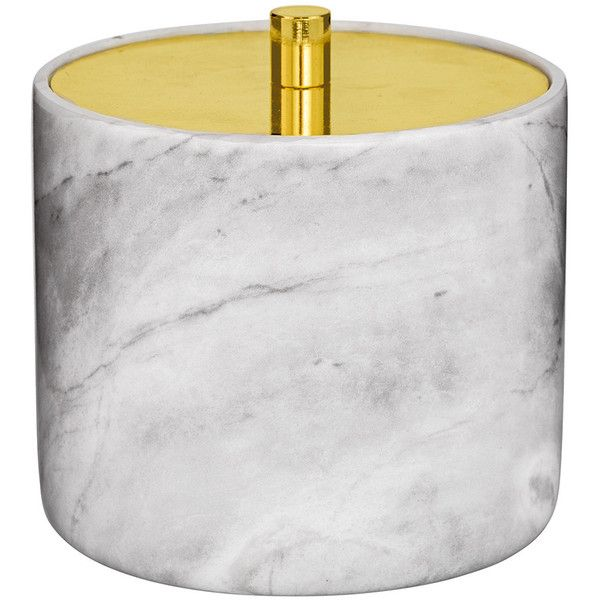Bloomingville Cotton Box - Marble/Gold found on Polyvore featuring home, bed & bath, bath and bath accessories