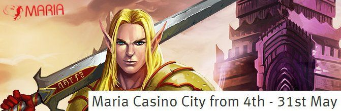Maria Casino City 4 weeks tournaments prize draws and exclusive cash packages    Join Maria Casino for four weeks of tournaments, prize draws and exclusive cash packages!   All players who will have received a prize during this promotion will also enter a €5,