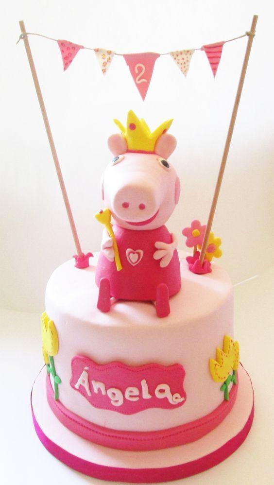 Tarta de cumpleaños Peppa pig / Peppa pig Birthday cake: