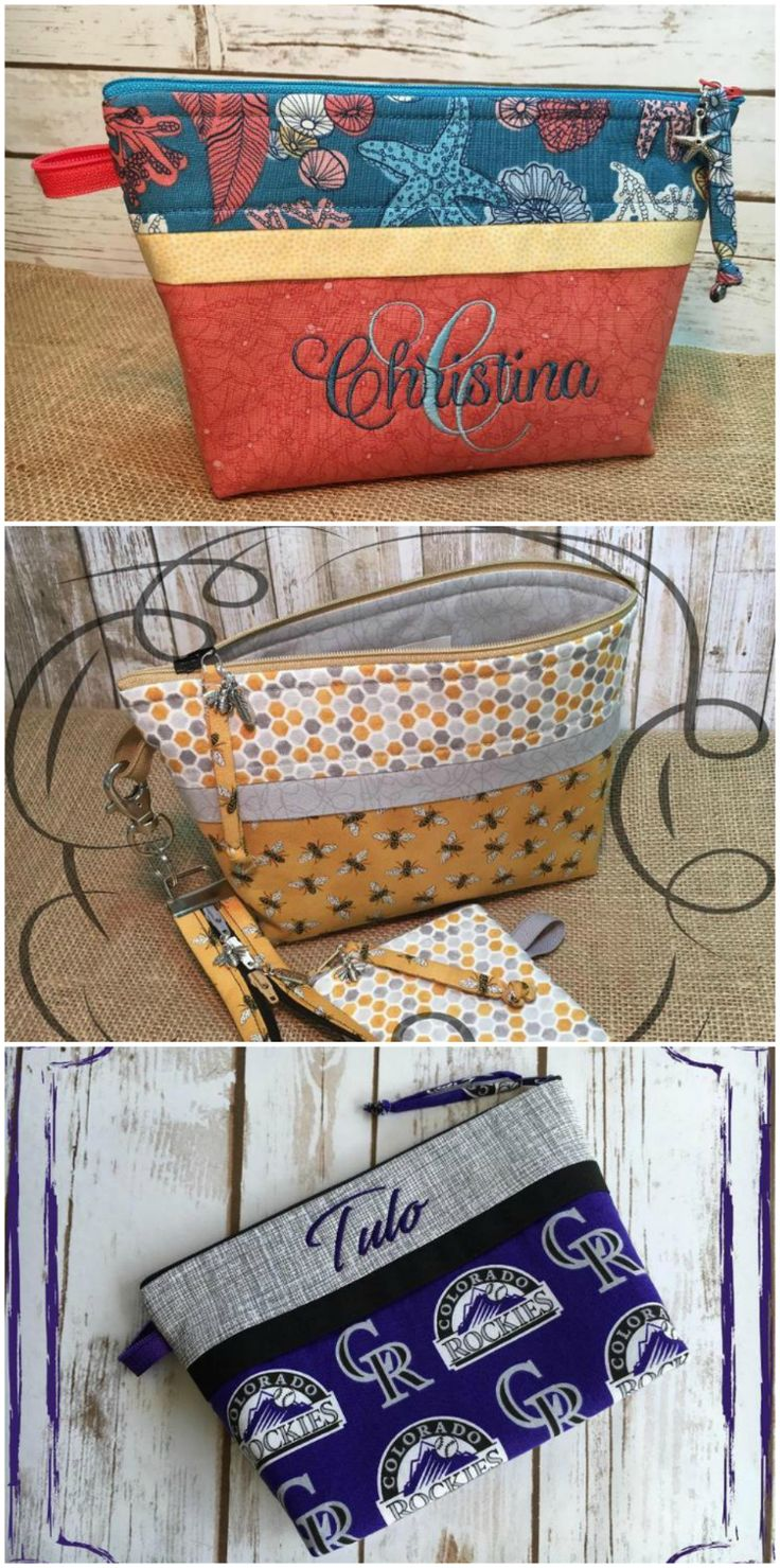 Step by step video tutorial for how to sew the perfect zipper bags, plus 2 more fun zipper projects.  The best class there is on zippers!