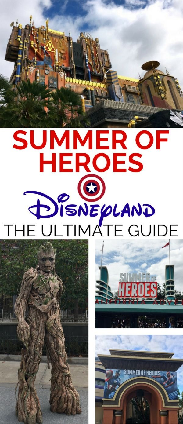 The complete guide to Disneyland's 2017 Summer of Heroes. All the details on the new Guardians of the Galaxy - Mission: BREAKOUT! attraction, superhero encounters, Avenger Training Initiative and more.
