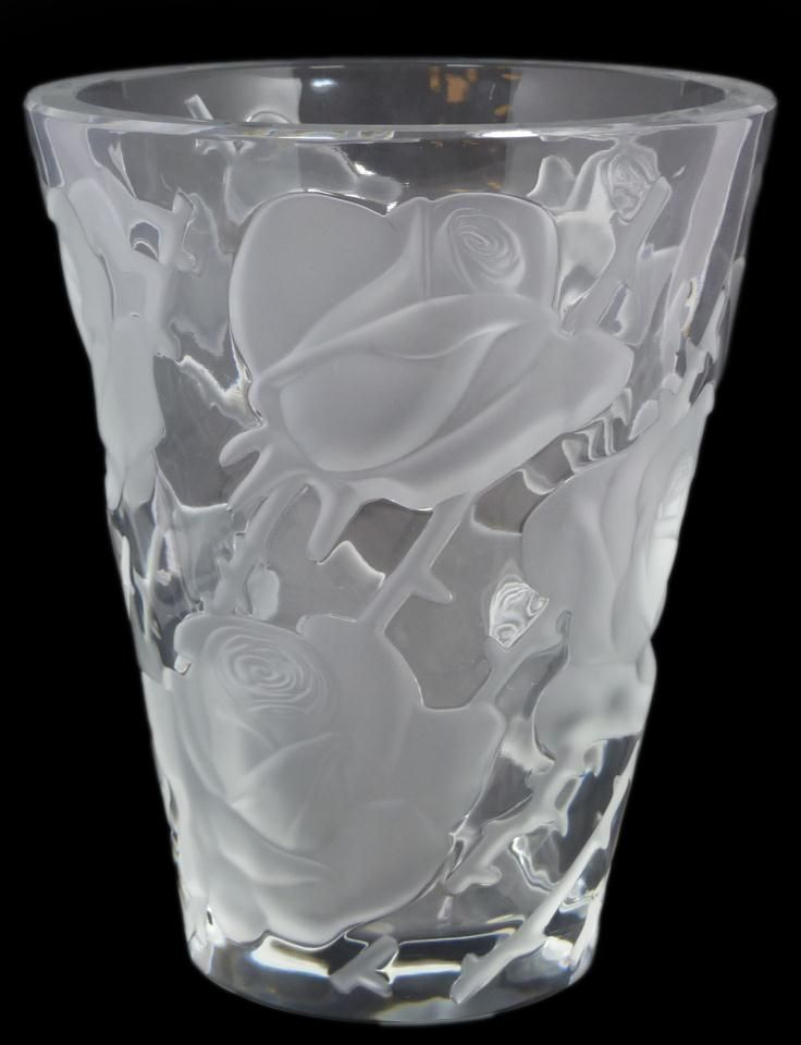 17 best images about lalique silver glassware on for Lalique vase