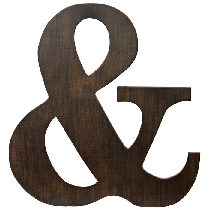 Ampersand wall d cor home pinterest for Ampersand decor