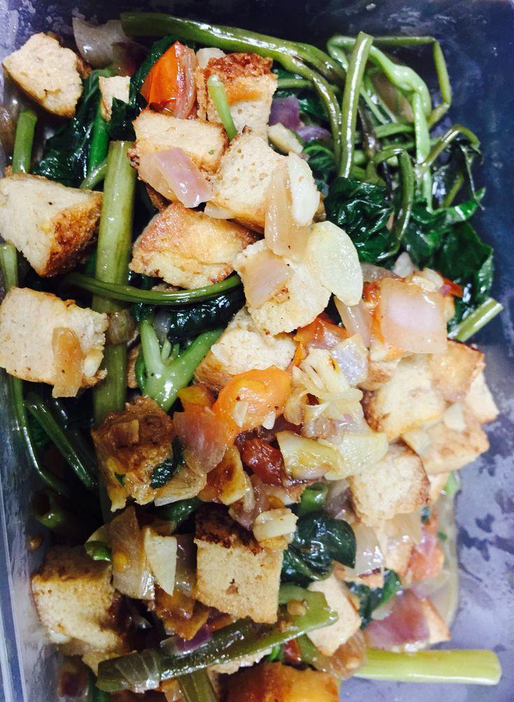 Kangkong Tofu Stir Fry