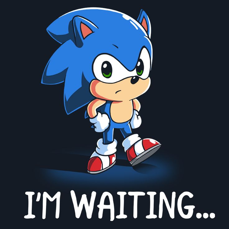 I'm Waiting... - This official Sonic the Hedgehog t-shirt featuring Sonic the Hedgehog is only available at TeeTurtle!