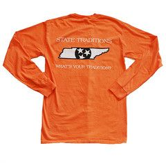 Tennessee Knoxville Traditional Long Sleeve T-Shirt Orange