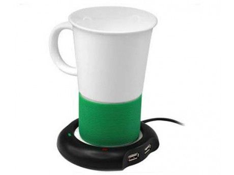 Reduce the need to throw away your cold tea or coffee with this handy USB warmer!