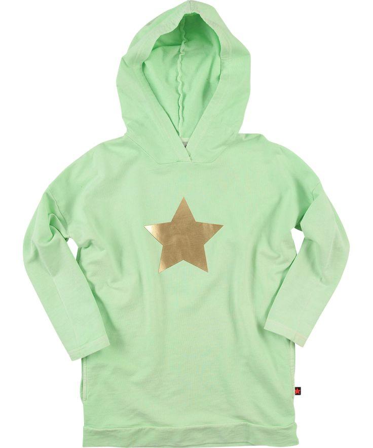 Molo licht muntgroene kaptrui met gouden ster #emilea