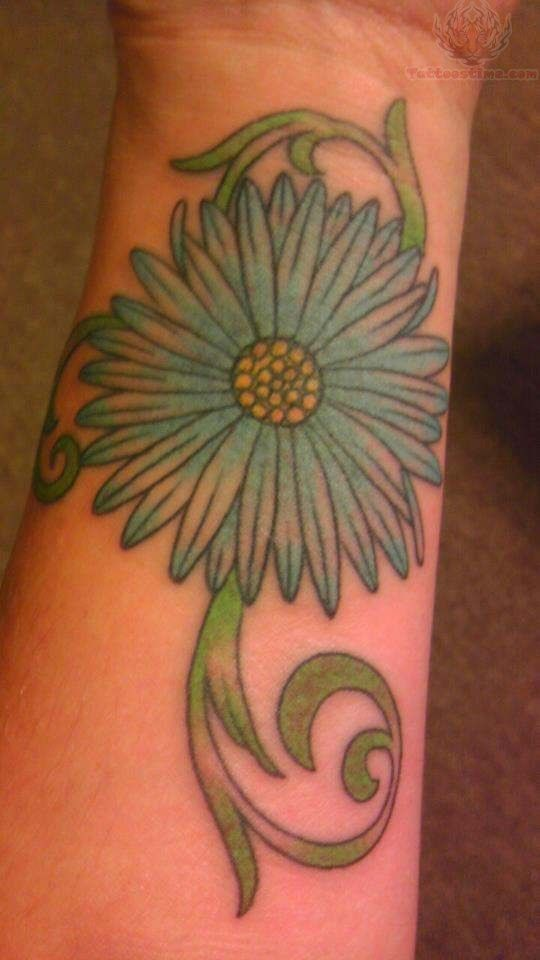 Daisy Flower Tattoo On Wrist