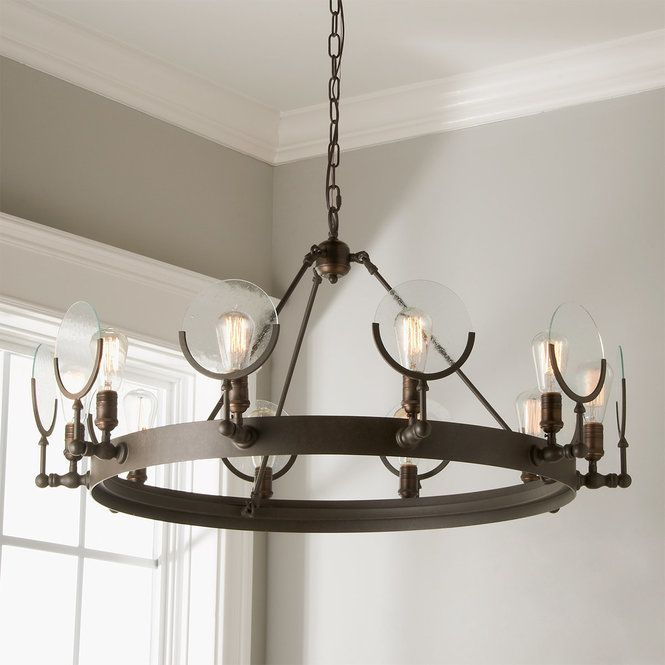 Check Out Lunar Lens Ring Chandelier From Shades Of Light Angled Arms Holding Seeded Glass Discs And An Disk Chandelier Ceiling Mount Light Fixtures Chandelier