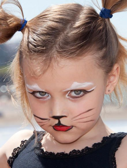 painting a cat face for halloween - Google Search