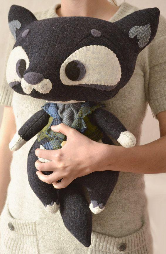 Oh Wolfy by MarieChou on Etsy: Big Cat, Stuffed Animals, Craft, Plushies Diy, Soft Toys, Sewing Plushie, Wolf Stuffed Animal, Plushie Diy