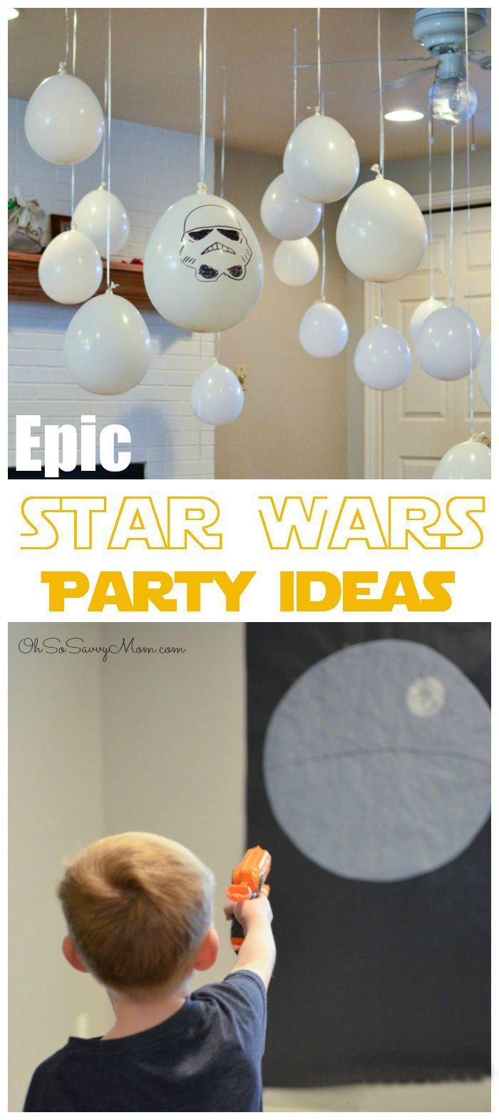From learning how to move objects with The Force, to bringing down the Death Star, you'll love these Epic Star Wars Party Ideas! Throw the most awesome Star Wars Birthday Party on the cheap!