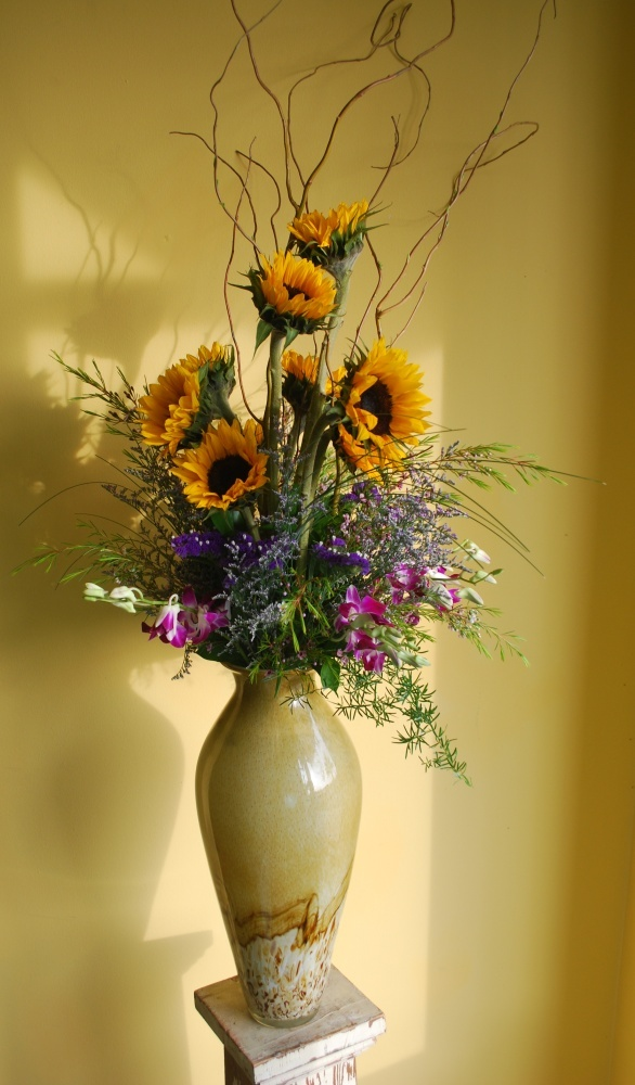 "Made to order: ""a stunning sunflower arrangement."""