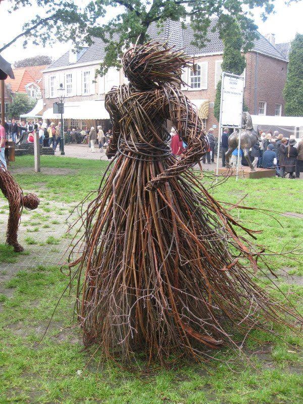 Twig Woman at an Art Fair in Holland.