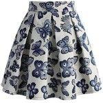 Chicwish Fond for Butterflies Pleated Skirt