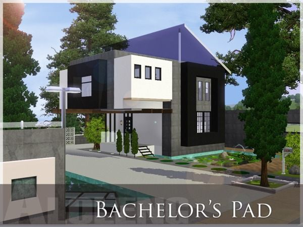 145 best images about sims 3 architecture interior for Bachelor pad house plans