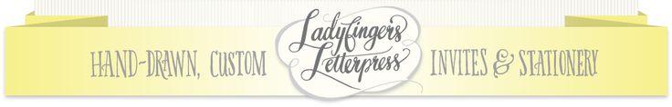 Ladyfingers Letterpress for stationary!