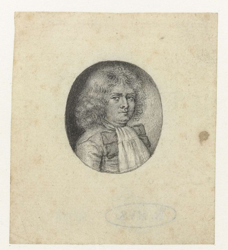 Christian Huygens | Portret van een heer, naar rechts, in een ovaal, Christian Huygens, 1639 - 1695 |
