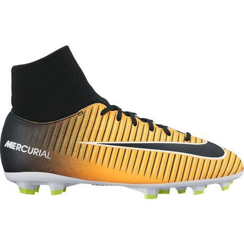 Nike Boys' Mercurial Victory VI Dynamic-Fit Firm-Ground Soccer Cleats (Laser Orange/Black/White/Volt, Size