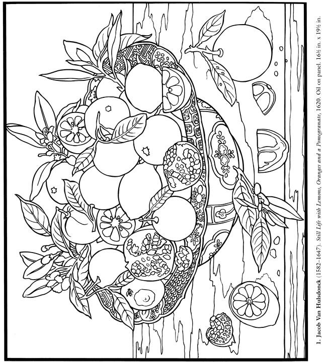Citrus Fruit Dover Coloring PagesAdult