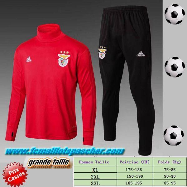 Plus Beau Survetement De Grande Taille Foot Benfica Homme