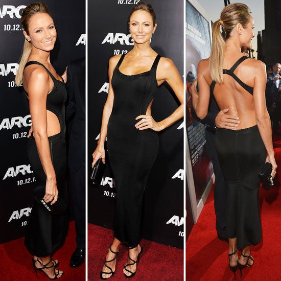 We're feeling this longer LBD thanks to Stacy Keibler's STUNNING Alaia look. Yeah girl.