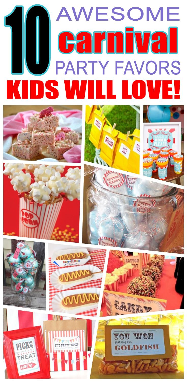 Birthday gift bags 5 cooking for oscar - Carnival Party Favor Ideas