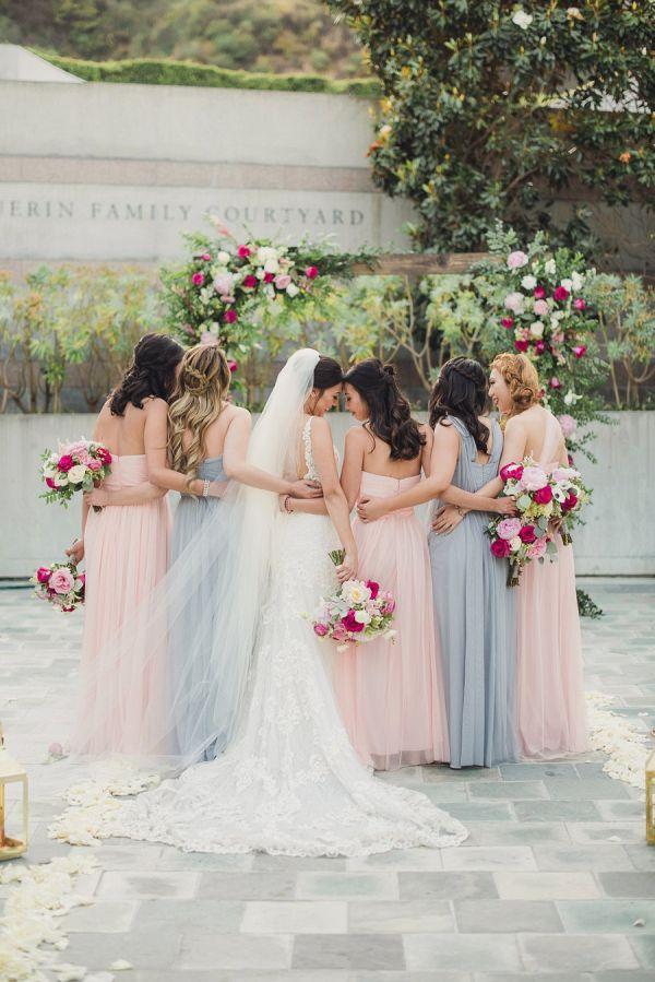 Pastel bridesmaids        #wedding #weddings #weddingideas #aislesociety #realwedding #springwedding