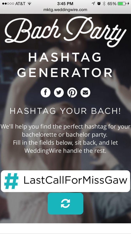 Bachelorette hashtag
