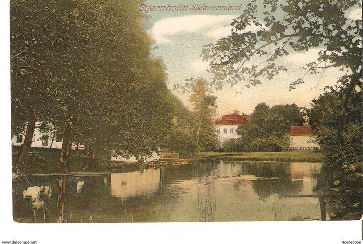 Sweden Stjernholm Sodermanland Antique Postcard by C.N.LJ.Sthlm posted in 1918 Brevkort