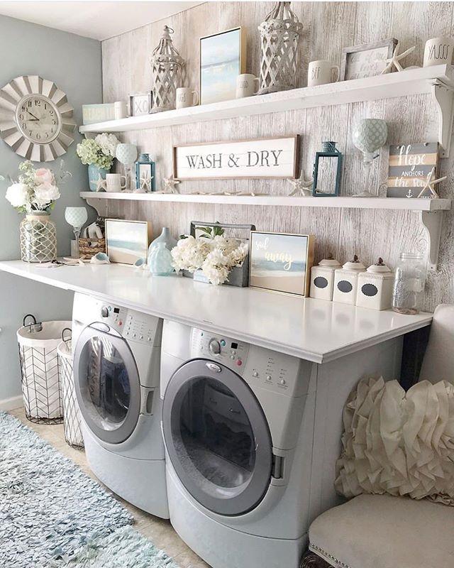 Happy Saturday Isn T This Coastal Farmhouse Styled Laundry