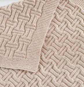 Tricô Padrão Cobertor De Bebê Cobertor De Basketweave Reversível Melhorando Iniciante Tricô Padrão Cobertor De Trolley Instant Download
