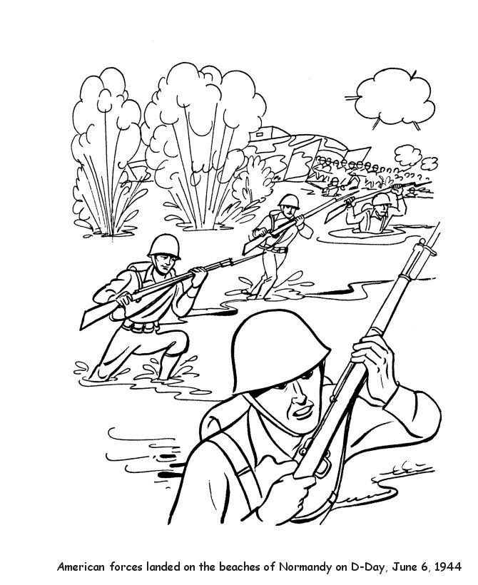 World War 2 Veterans Day Coloring Page Coloring Pages Color Wars