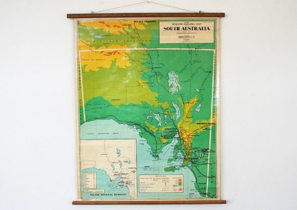 Vintage Map of South Australia