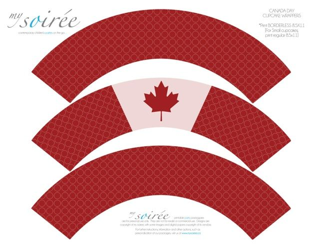 Canada Day FREEBIE!!!   Free Canada Day Party Printables!  Fabulous Party Printables & Inspiration!  www.mySoiree.ca