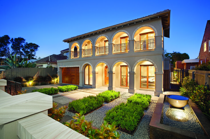 Mediterranean Style Home With Arches.  Ravida- Property With Distinction