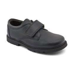 Will, Navy Blue Leather Boys Riptape School Shoes http://www.startriteshoes.com/school-shoes/
