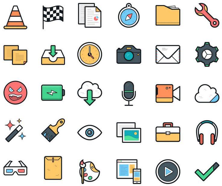 100 superbes icônes colorées en format vectoriel - Retrouvez-moi sur twitter.com/jmarois (scheduled via http://www.tailwindapp.com?utm_source=pinterest&utm_medium=twpin&utm_content=post13598274&utm_campaign=scheduler_attribution)