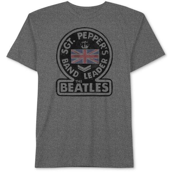 Hybrid Men's Beatles Men's Graphic T-Shirt ($9.99) ❤ liked on Polyvore featuring men's fashion, men's clothing, men's shirts, men's t-shirts, charcoal, mens graphic t shirts, mens cotton t shirts, j crew mens shirts, mens crew neck t shirts and mens t shirts