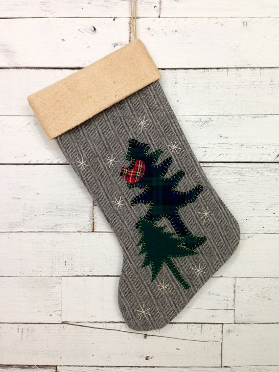 Personalized Rustic Christmas Stocking by Away Up North on #etsy #christmas #rustic