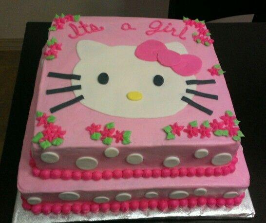 Nice Kellyu0027s Hello Kitty Baby Shower Cake. Shower Cakes