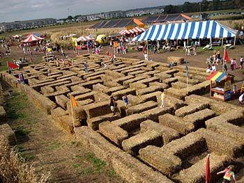 hay bale maze - Google Search