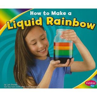 Teaching kids about density and color. I might try making a sensory bottle with this.