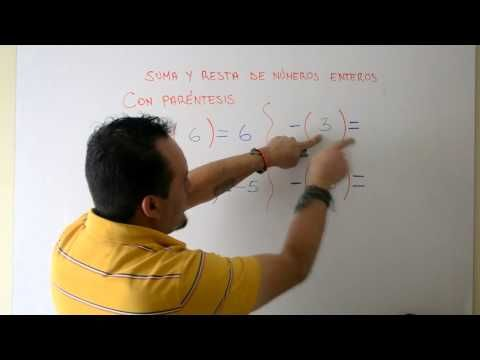Suma y Resta Números Enteros | Clases Gratis de Matemáticas - YouTube