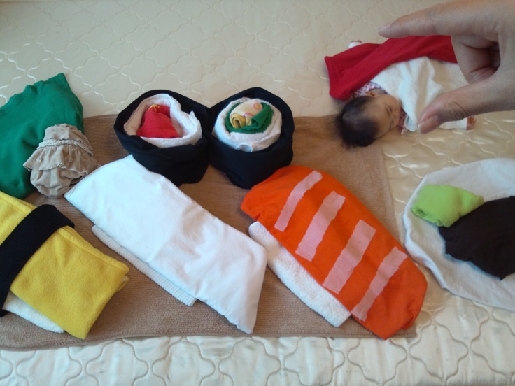 Sleeping Baby Art. Sushi! hahaha